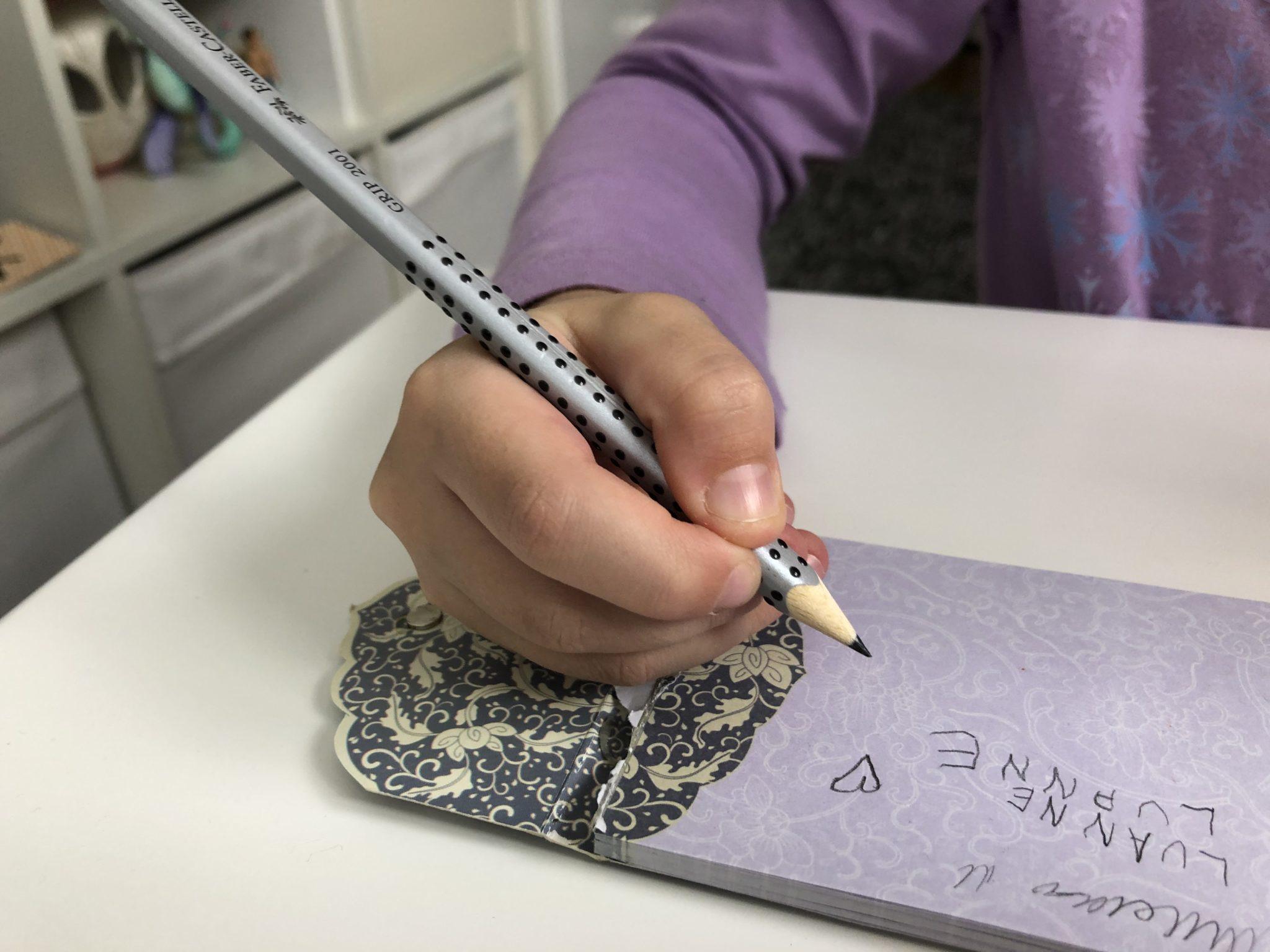 Die richtige Stifthaltung