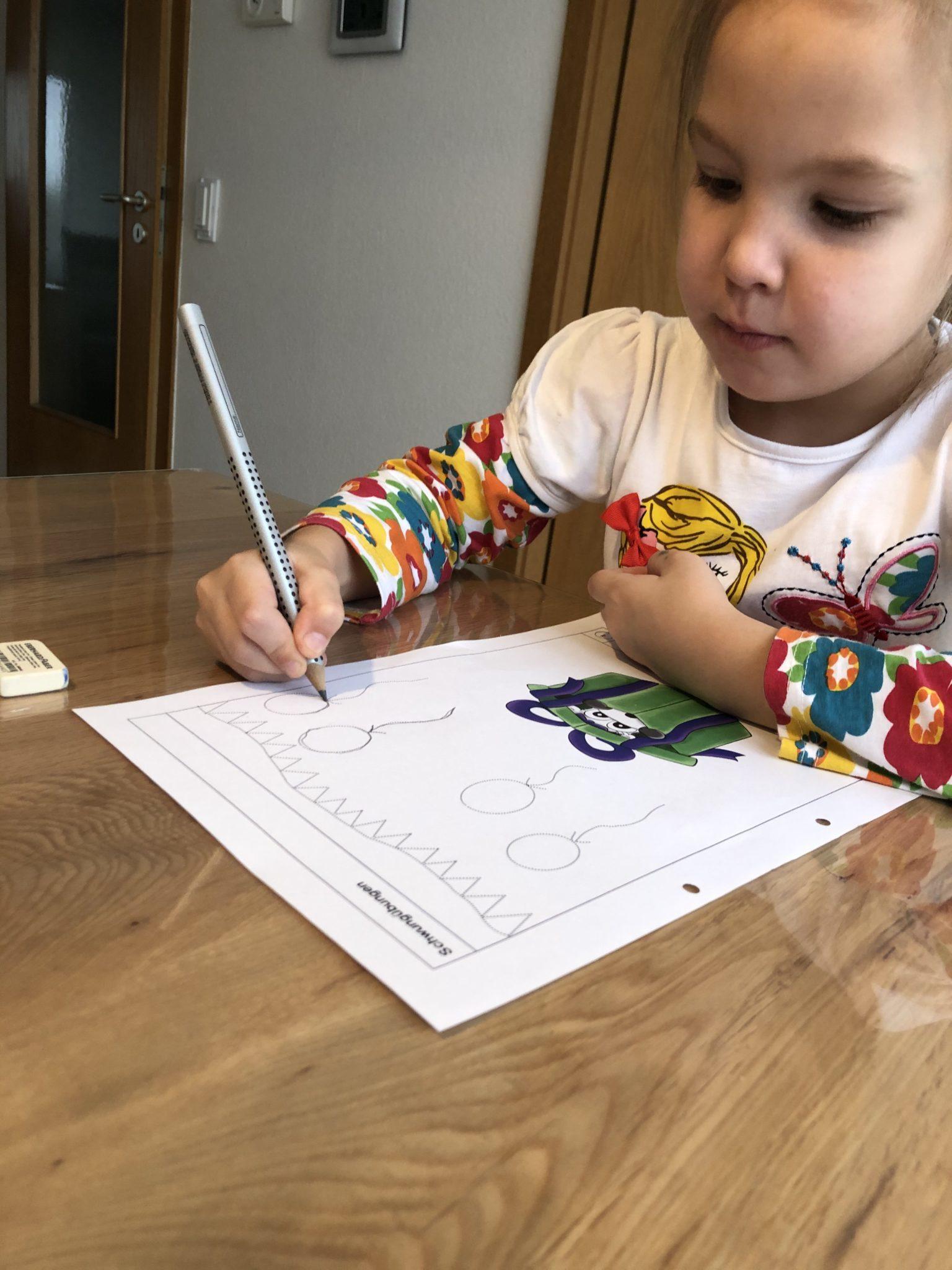 Buchstaben schreiben lernen