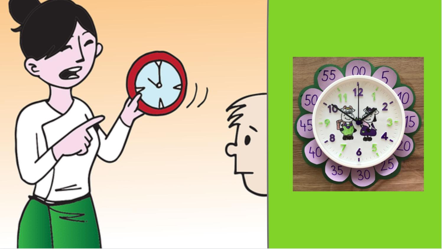 Uhr lernen Kinder 2. Klasse