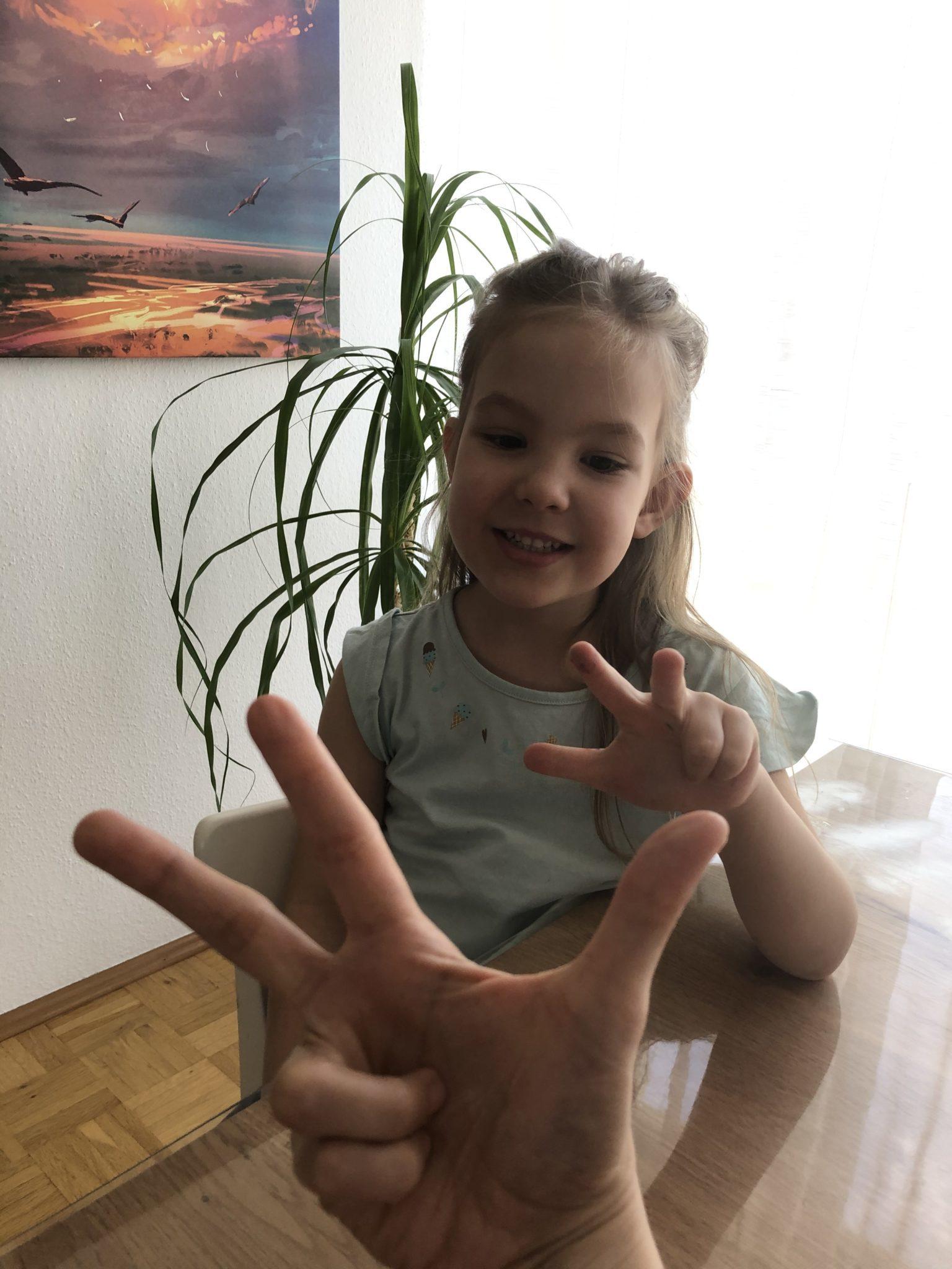 Verdoppeln mit Fingern