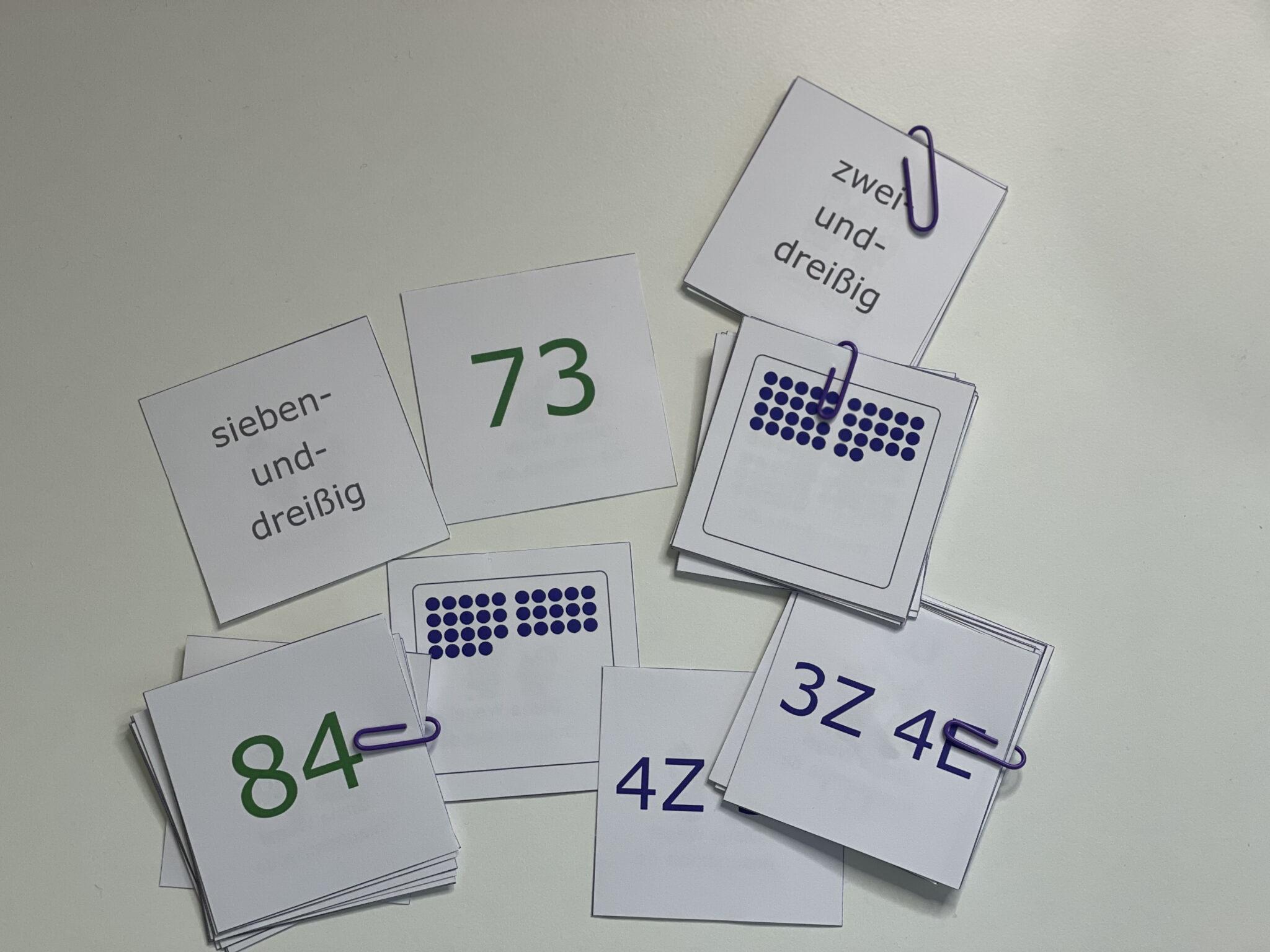 schreibweise Zahlen grundschule